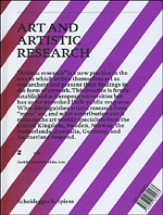 art and artistic research - book cover